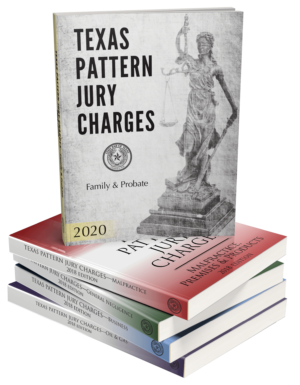 texas pattern jury charges- Texas Bar Books