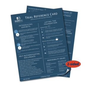 trial reference card - texas bar books